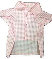 Gingham Pattern Shirt Pink