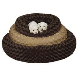 Slumber Pet™  Swirl Plush Donut Bed