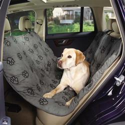 Guardian Gear® PawPrint Hammock Car Seat Cover - Grey