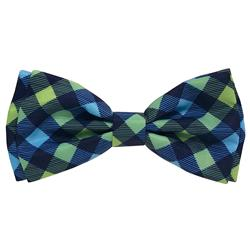 Huxley & Kent - Navy Check Bow Tie, Delivers March 2019