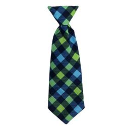 Huxley & Kent - Navy Check Long Tie, Delivers March 2019