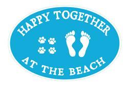 10 Pk Happy Together at the Beach Car Magnet