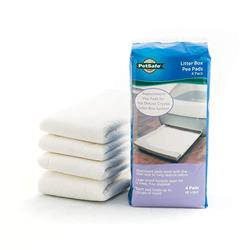 Replacement Pee Pad, 4-Pack for Deluxe Crystal Litter Box