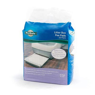 Replacement Pee Pad, 10-Pack for Deluxe Crystal Litter Box