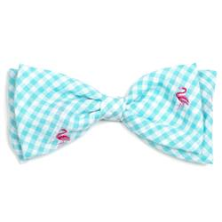Gingham Flamingo Bow Tie