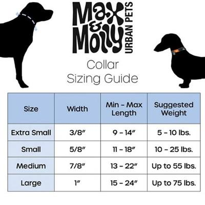 Max & Molly MATRIX SMART ID COLLARS - CLASSIC COLLECTION NEOPRENE
