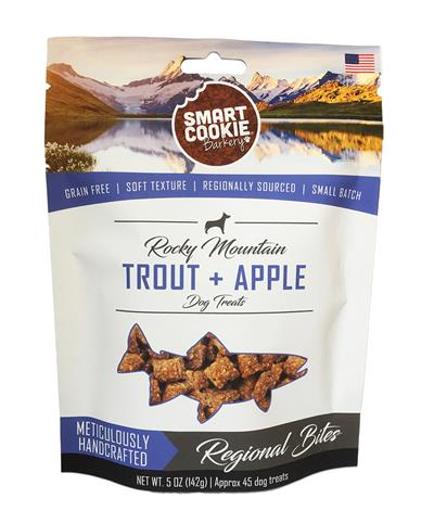 Rocky Mountain Trout + Apple Dog Treats, 5oz