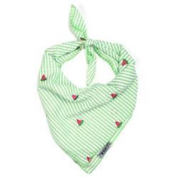 Green Stripe Watermelon Tie Bandana