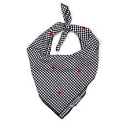 Gingham Hearts Tie Bandana