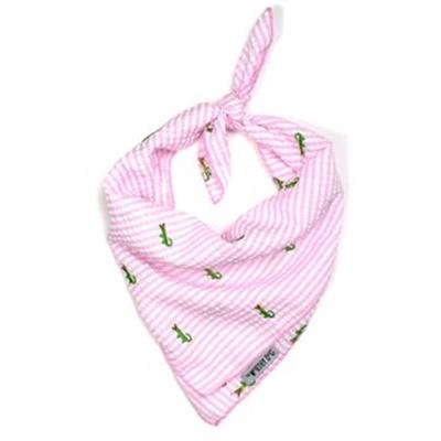 Pink Stripe Alligator Tie Bandana