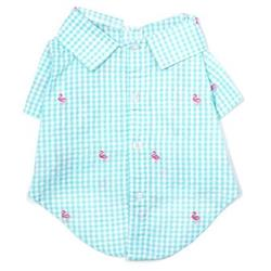 Gingham Flamingos Shirt