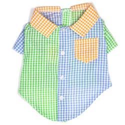 Gingham Colorblock Shirt