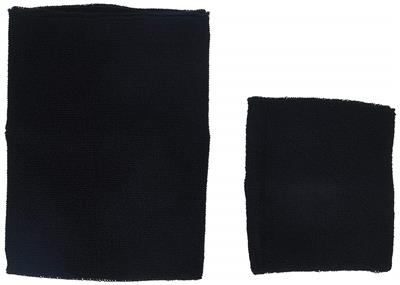 Happy Hoodie Two Pack- Grooming Hood - One large and One Small- Black