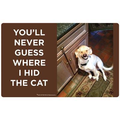 You'll Never Guess Where I Hid The Cat - Felt Floor Mats