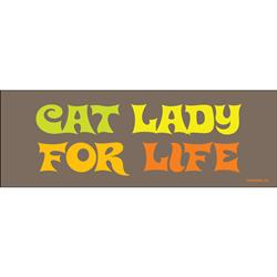 Cat Lady For Life Bumper Magnets