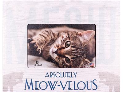 """Meow-velous 7.5"""" x 9.5"""" Horizontal Picture Frame"""