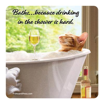 Baths... Because Drinking In The Shower Is Hard -  Coaster