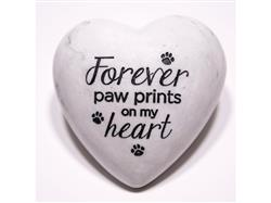 Forever Paw Prints on my Heart - Inspirational Stone Paperweight