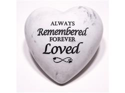 Always Remembered Forever Loved - Inspirational Stone Paperweight