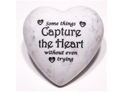 Some Things Capture the Heart... - Inspirational Stone Paperweight