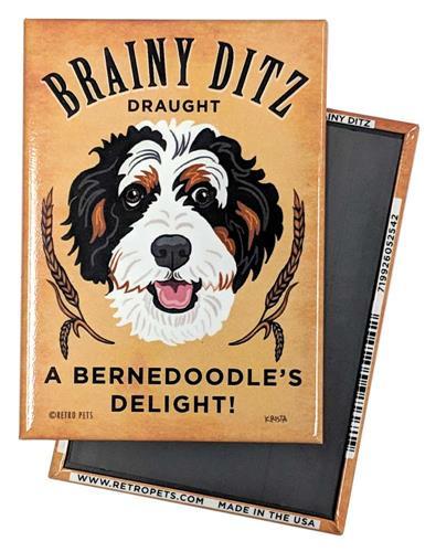 Brainy Ditz Bernedoodle MAGNETS