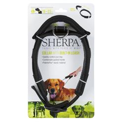 Sherpa® Dog Collar with Built in Leash, Black