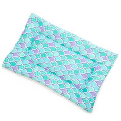 Mermaid Scales Printed Fleece Fabric Flat Pet Bed
