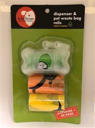 Lola Bean Dispenser & Pet Waste Bag 2 Rolls - Lemon Scent