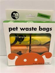 Lola Bean Pet Waste Bags - 8 Rolls - 160 Bags Total - Unscented