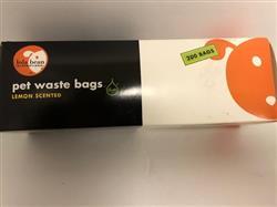 """Lola Bean Pet Waste Bags - 8"""" x 13"""" bags - Lemon Scented"""