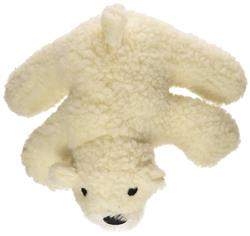 Mammoth Pet Products White Lambswool Plush Dog Toy
