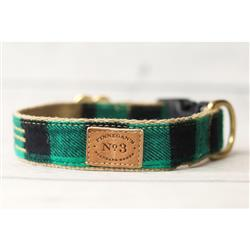 "1"" Green Buffalo Plaid Collars and Leads"