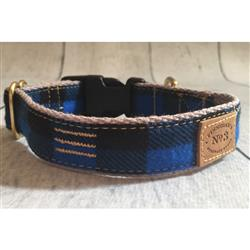 "1"" Blue Buffalo Plaid Collars and Leads"