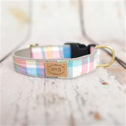 "1"" Pastel Madras Collars and Leads"