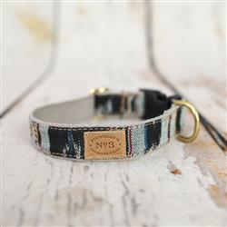 """1"""" Black Ikat Collars and Leads"""