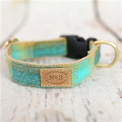 Teal / Olive Plaid Collars and Leads