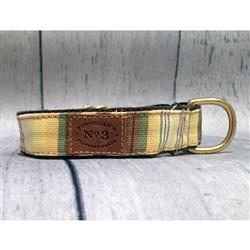 "1"" Yellow Stripe Collars and Leads"