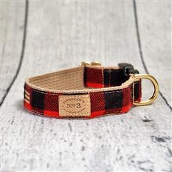 "1"" Red Buffalo Plaid Collars and Leads"