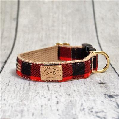 """1"""" Red Buffalo Plaid Collars and Leads"""