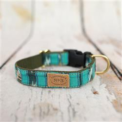 "1"" Teal Ikat Collars and Leads"
