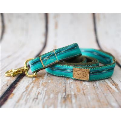 """1"""" Teal Ikat Collars and Leads"""