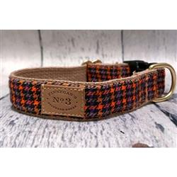 "1"" Persimmon Check Collars and Leads"