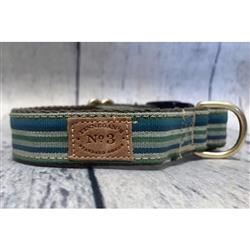 "1"" Sea Stripe Collars and Leads"