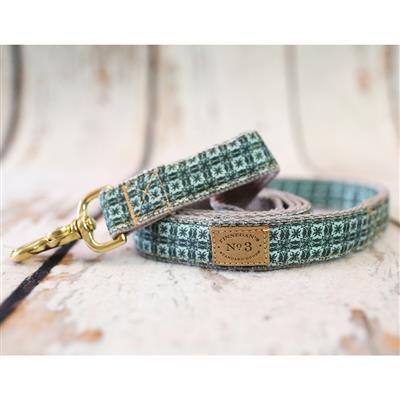 "1"" Aqua Tie Collars and Leads"
