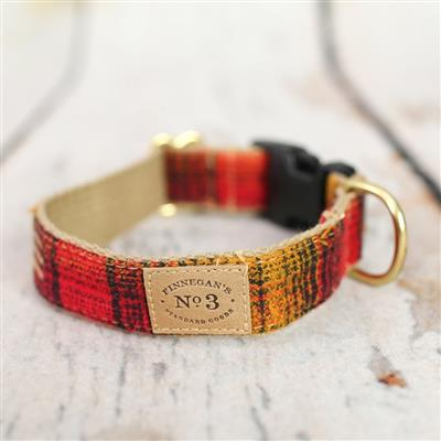 Red / Mustard Plaid Collars and Leads