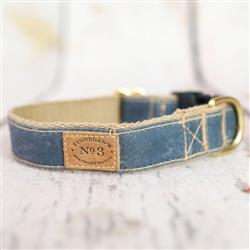Quarry Blue Waxed Cotton Collars and Leads