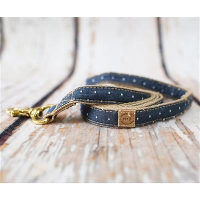 Denim Pin Dot Collars, Leads, and Harnesses