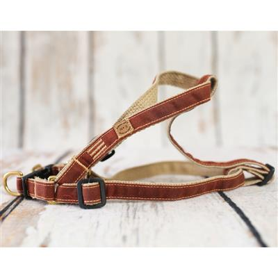 Russet Waxed Cotton Collars, Leads, and Harnesses