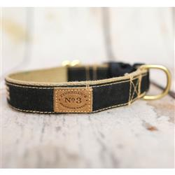 Tar Black Waxed Cotton Collars, Leads, and Harnesses
