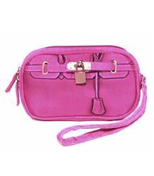 Scarlet Poop Bag Wristlet - Pink